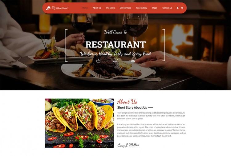 Foodies Restaurant WordPress Theme