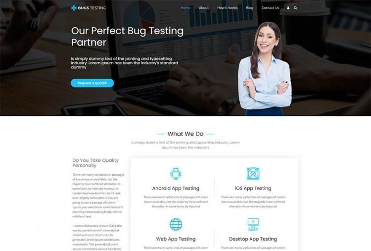 Bug Testing WordPress Theme