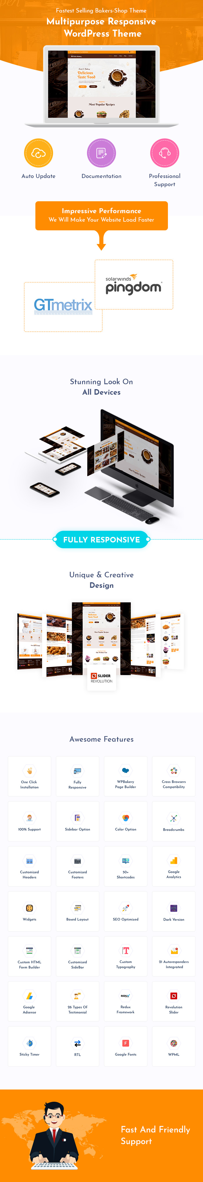 Fresh Bakery, Pastry and Cake Shop WordPress Themes