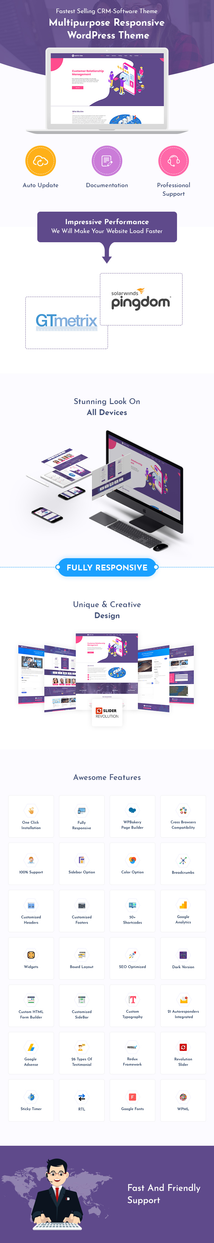 CRM Software WordPress Themes