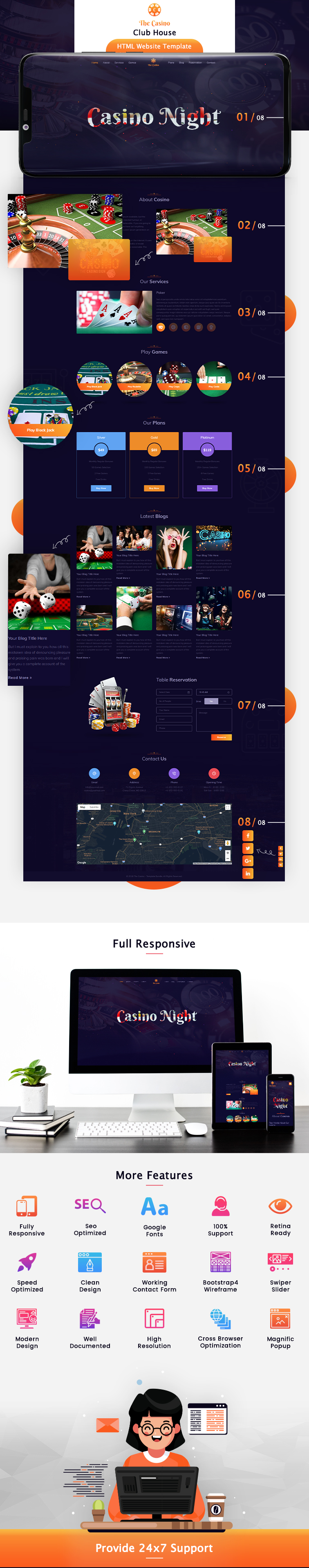 Club House HTML Website Template