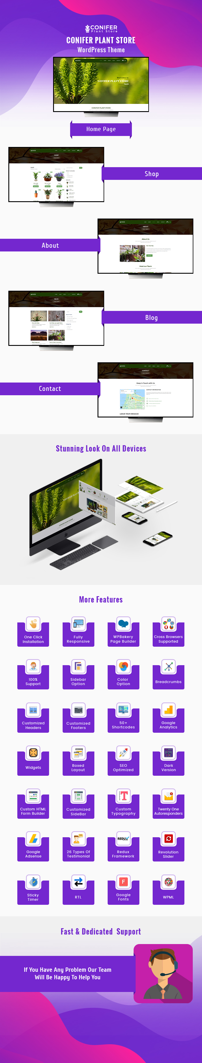 Conifer Plant Store Wordpress Theme