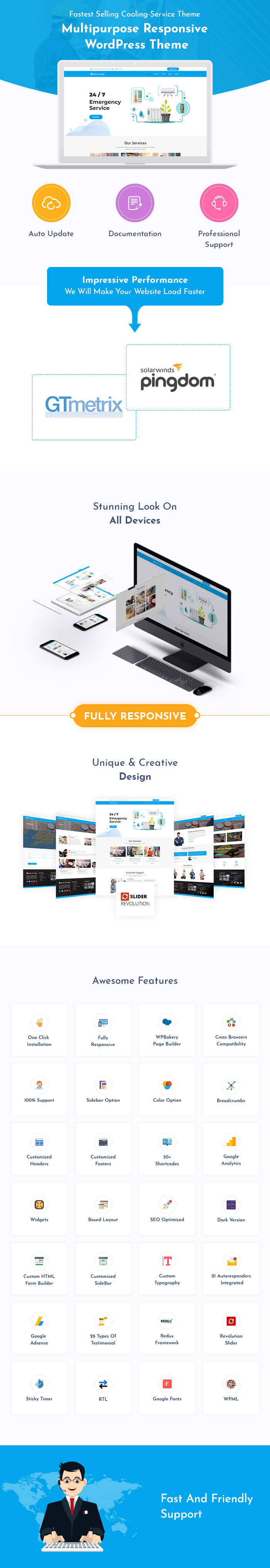 Cooling And Home Appliance Fixing Service WordPress Themes