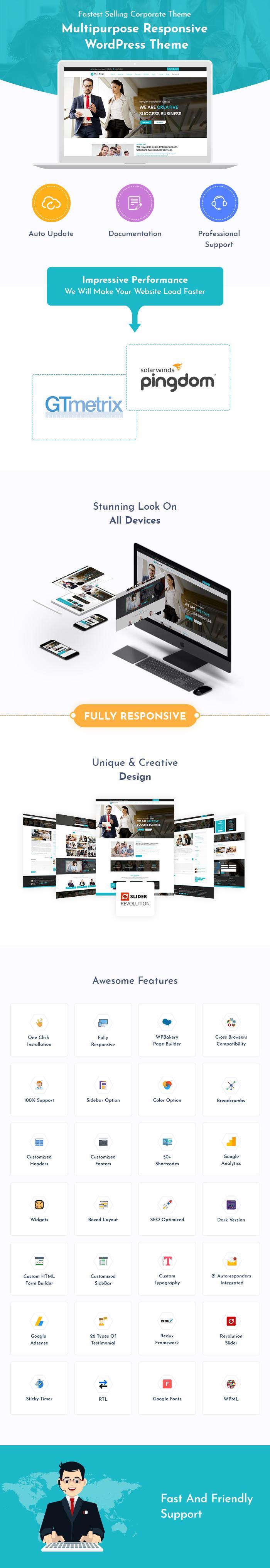 Financial & Corporate Business WordPress Themes
