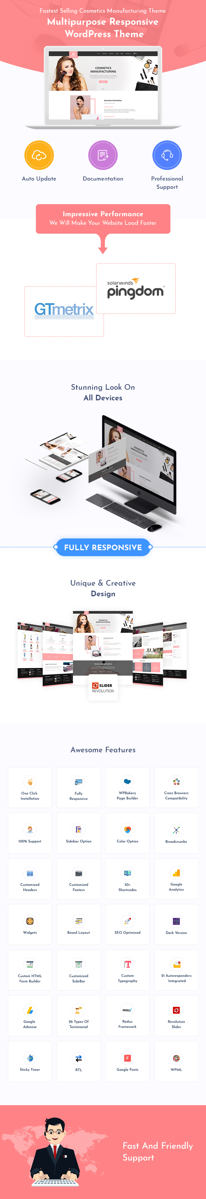 Cosmetics Manufacturing WordPress Themes