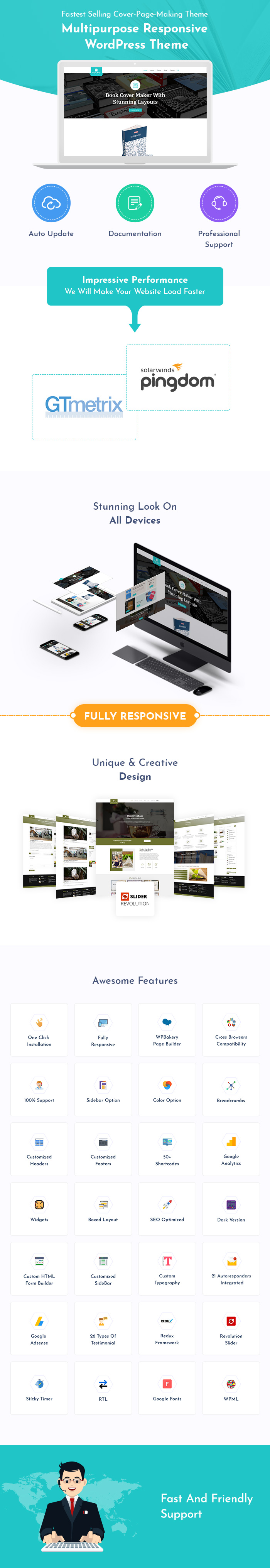 Cover Page Making WordPress Themes