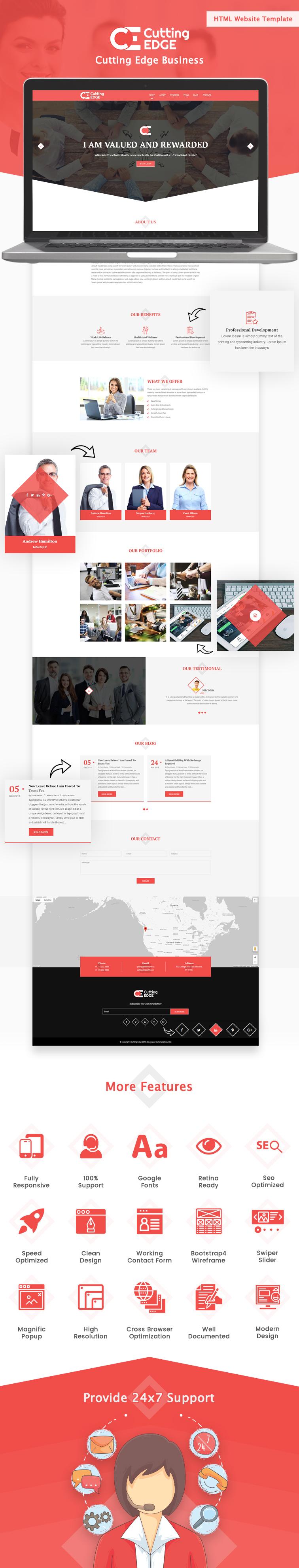 Cutting Edge Business HTML Website Template
