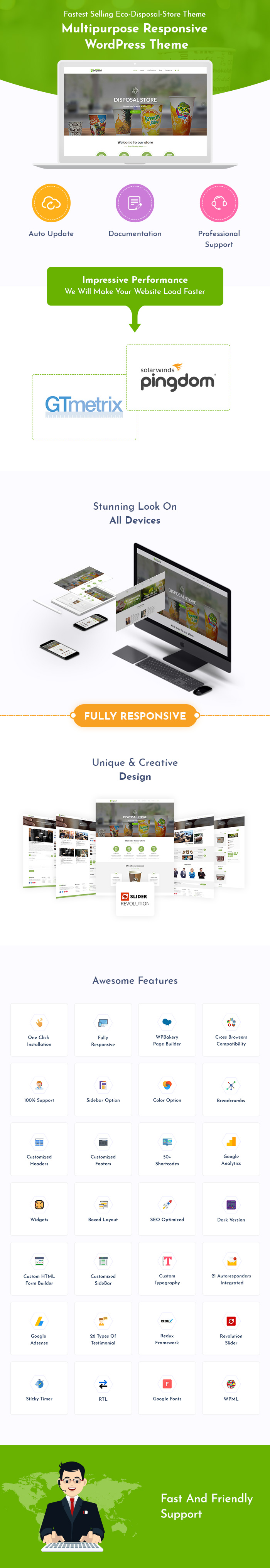 Eco Disposable Store WordPress Themes
