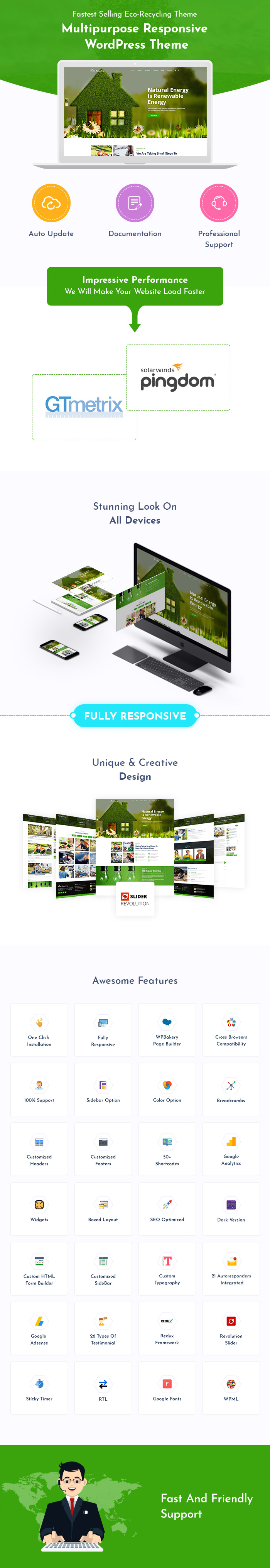 Eco Recycling And Waste Management WordPress Themes