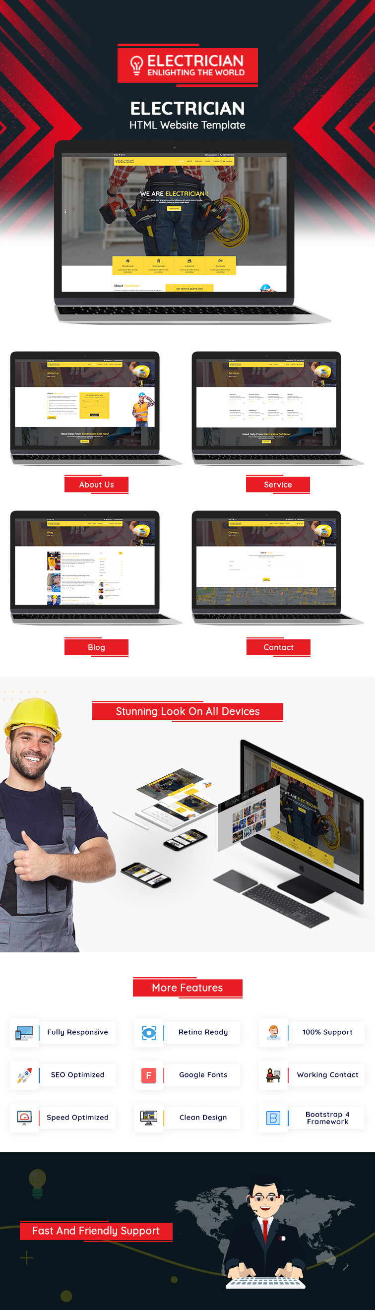 Electrician HTML Website Template