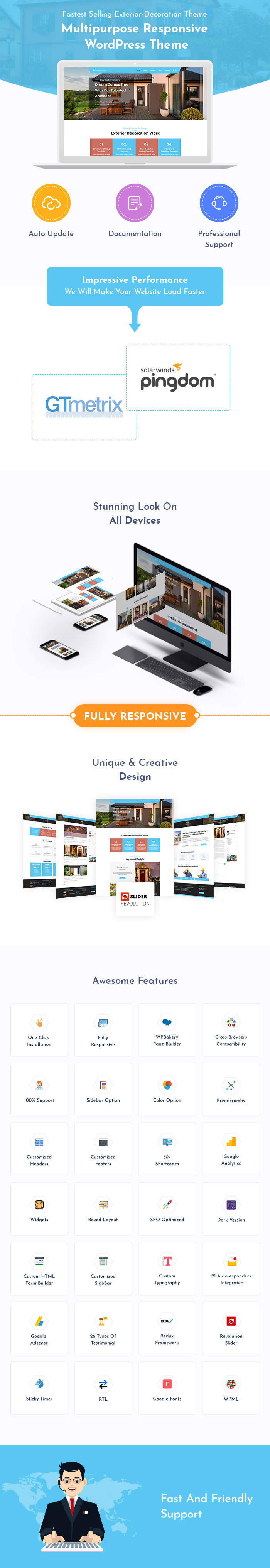 Exterior Decoration WordPress Themes