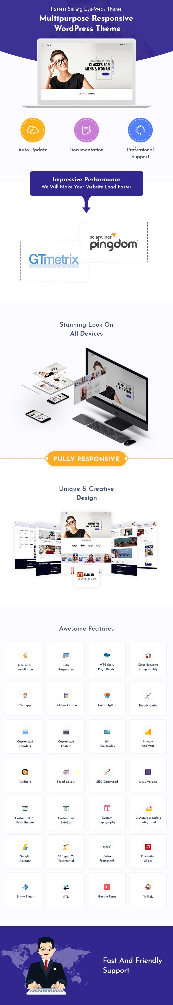 Eye Wear WordPress Themes