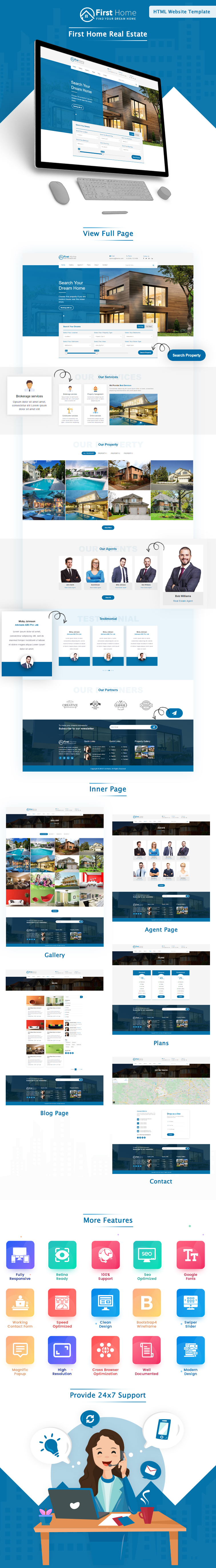 First Home Real Estate HTML Website Template