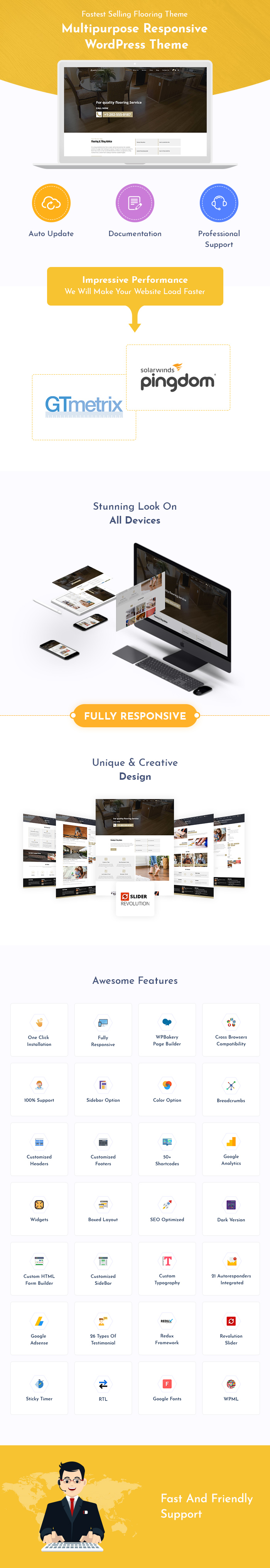 Flooring, Paving and Tiling Services WordPress Themes