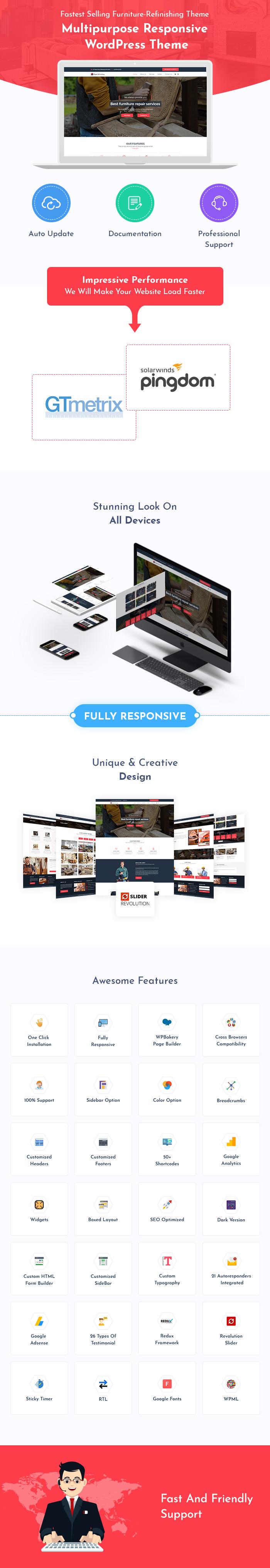 Furniture Refinishing WordPress Themes