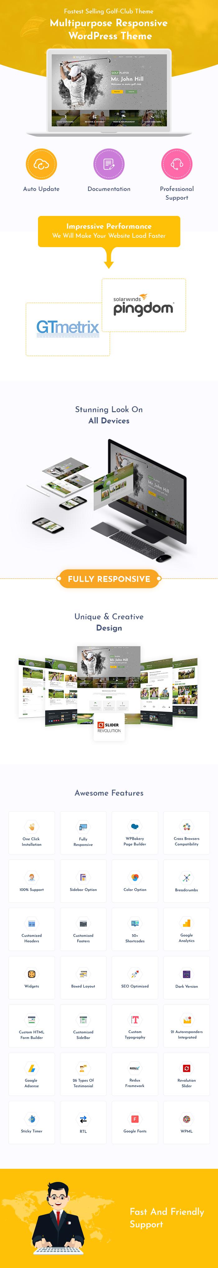 Golf Club And Sport WordPress Themes