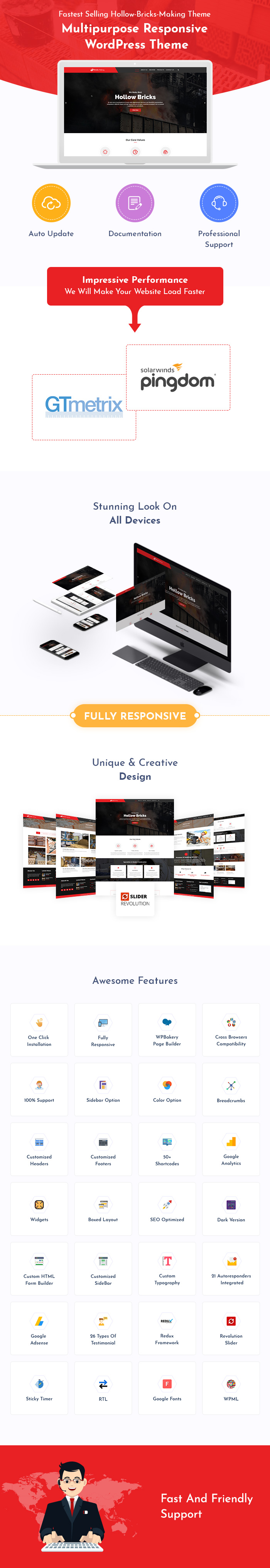 Brick Architechture & Construction WordPress Themes