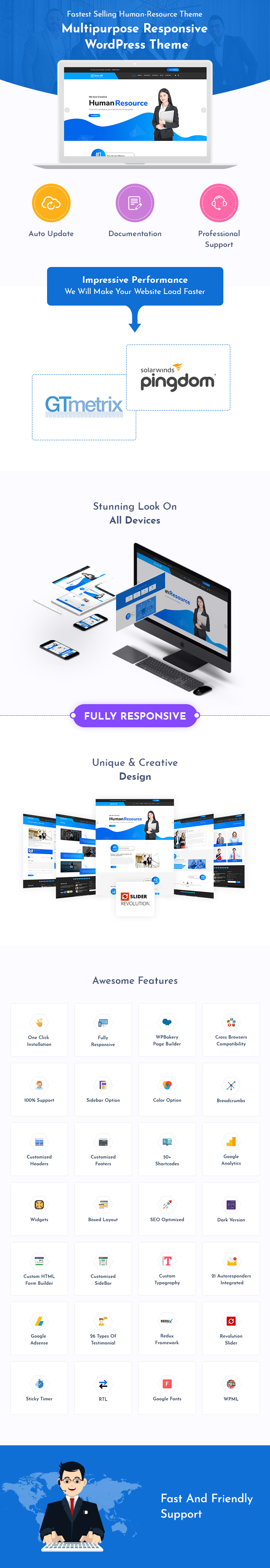 Human Resource WordPress Themes
