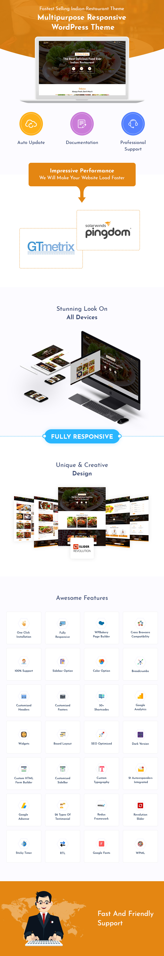 Indian Restaurant Bar And Cafe WordPress Themes
