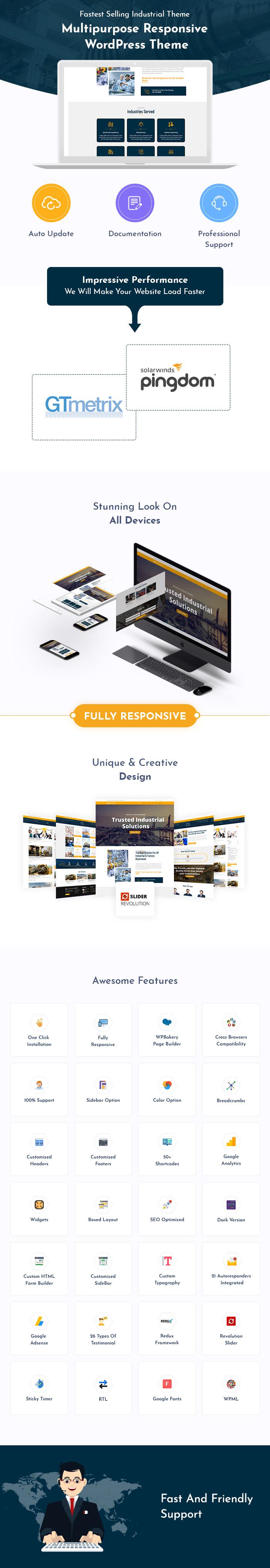 Industrial, Factory & Engineering WordPress Themes