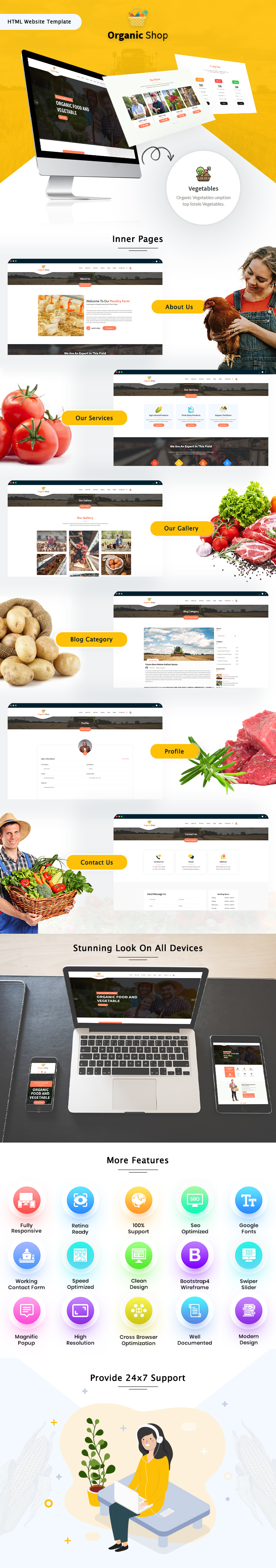 Organic Shop HTML Website Template