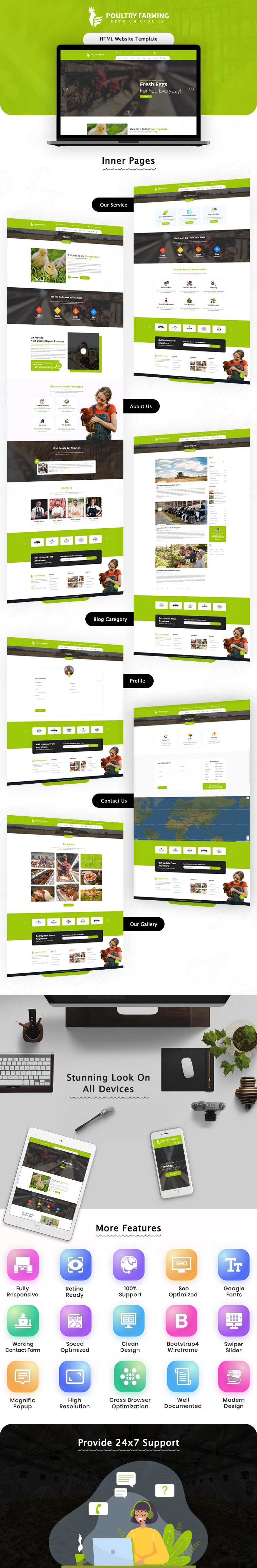 Poultry Farming HTML Website Template