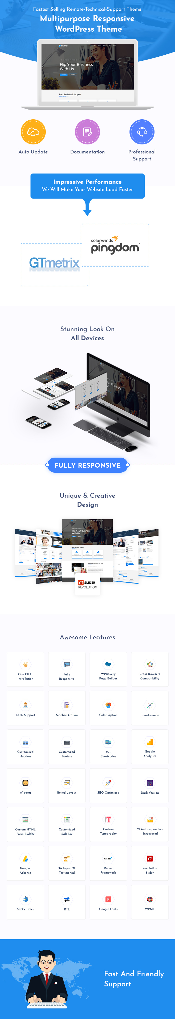 Remote Technical Support WordPress Themes