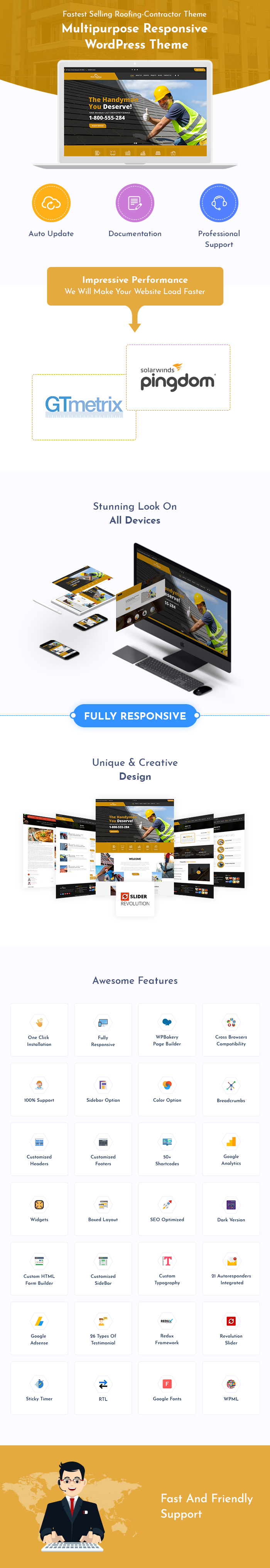 Roofing Contractor WordPress Themes