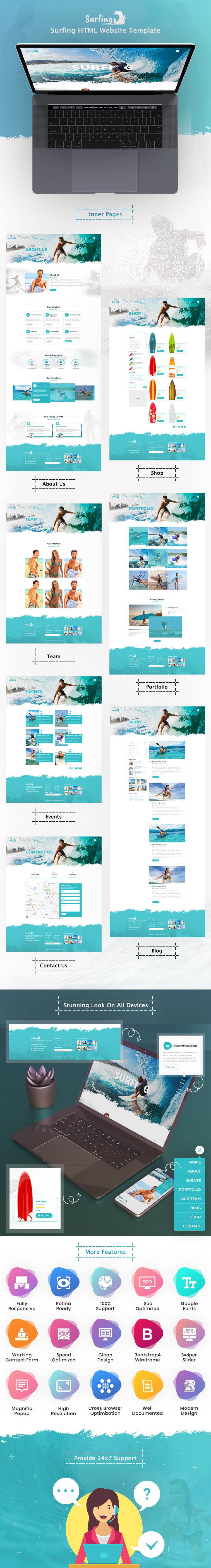Surfing HTML Website Template