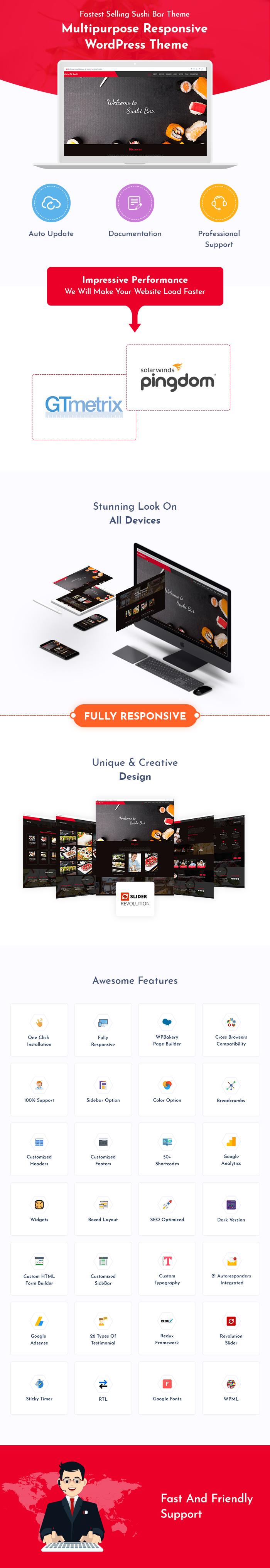 Sushi Bar WordPress Themes