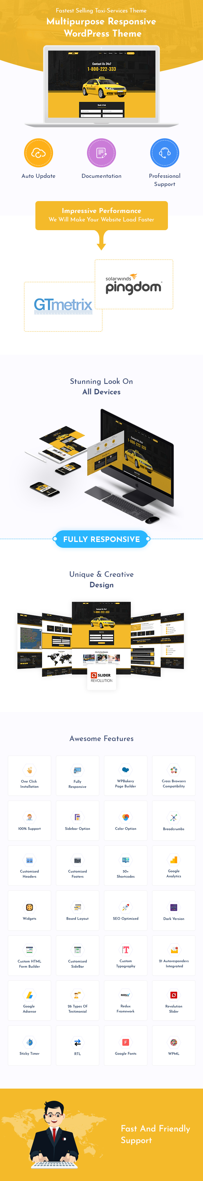 Taxi & Cab Services WordPress Themes