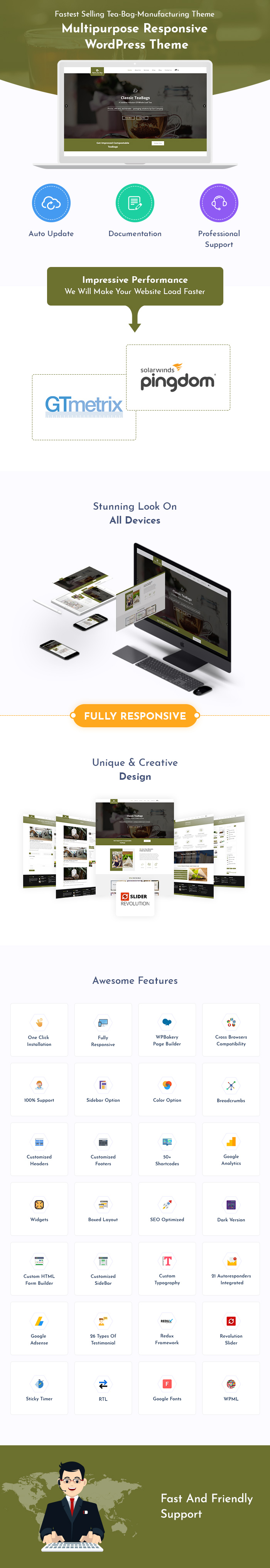 Tea Bag Manufacturing WordPress Themes