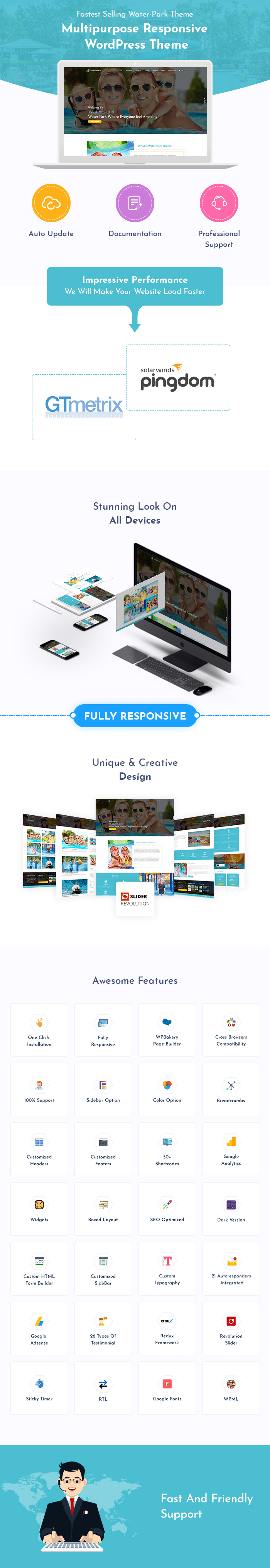 Water Park, Water Slides And Water Sports WordPress Themes