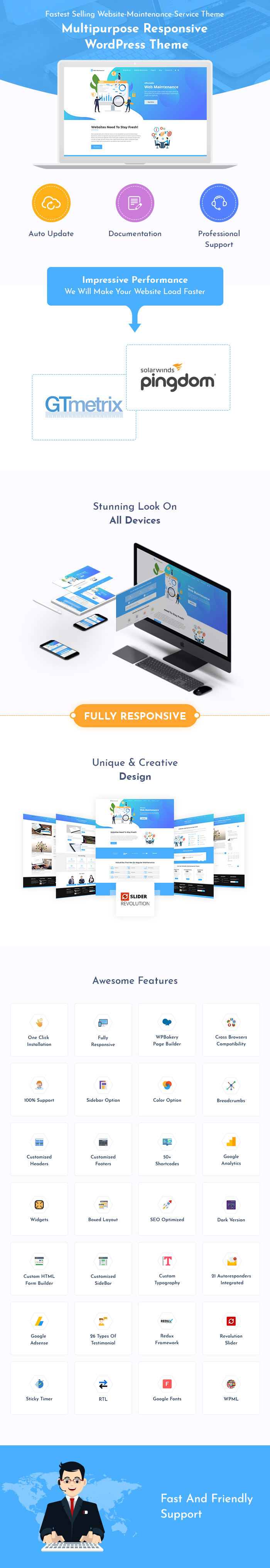 Website Maintenance WordPress Themes