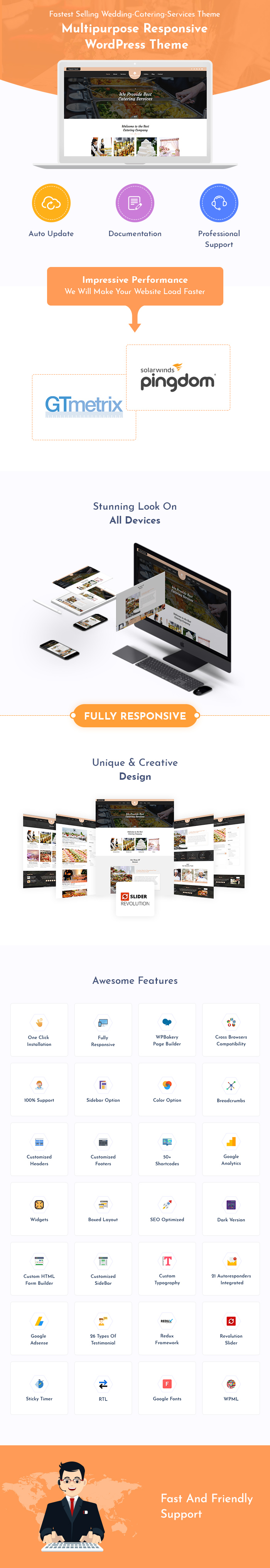 Wedding Catering Services WordPress Theme