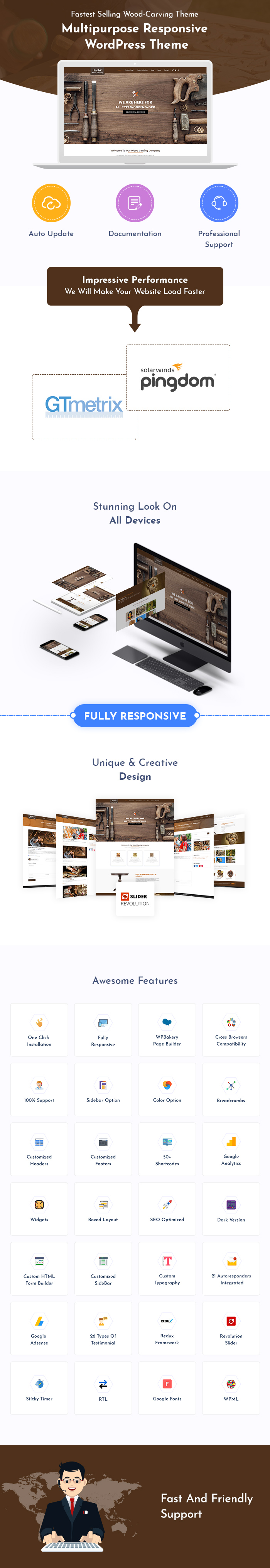 Wood Carving And Woodcraft WordPress Themes