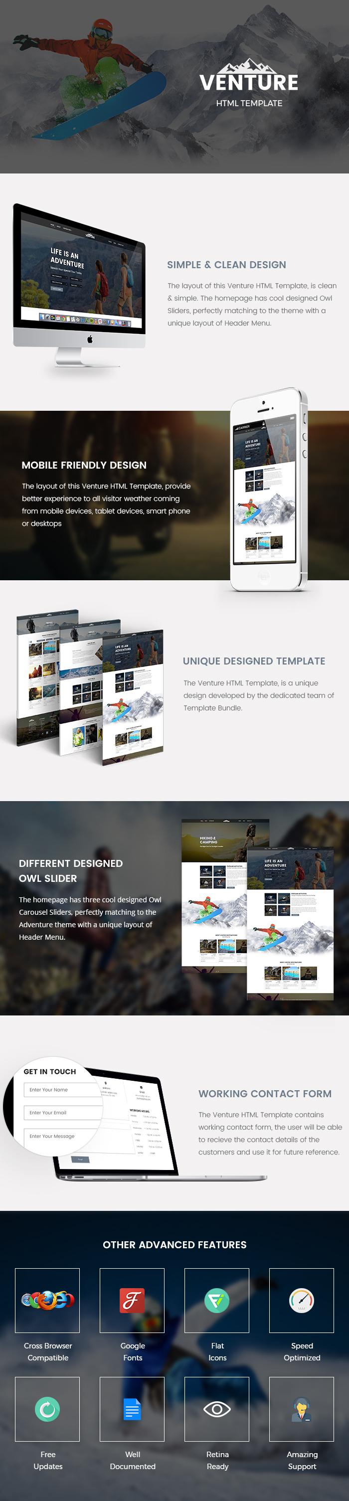 Adventure html template Template Bundle | Premium HTML Template ...