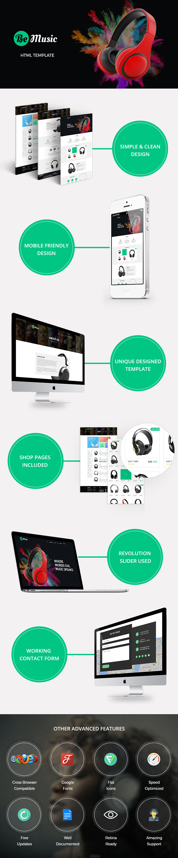 Be Music - Music Store HTML Website Templates