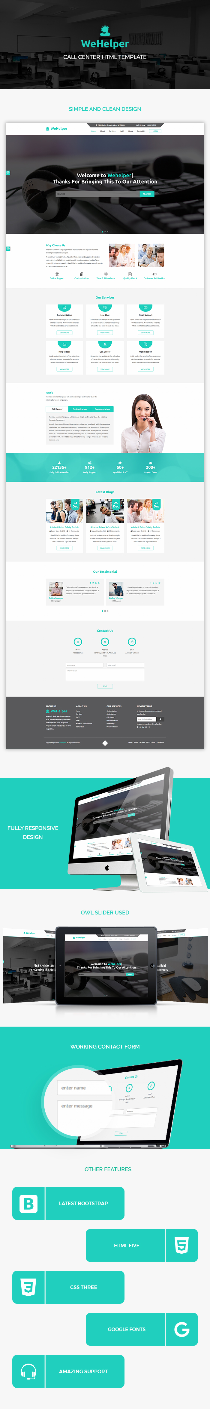 Call Center HTML Website Templates