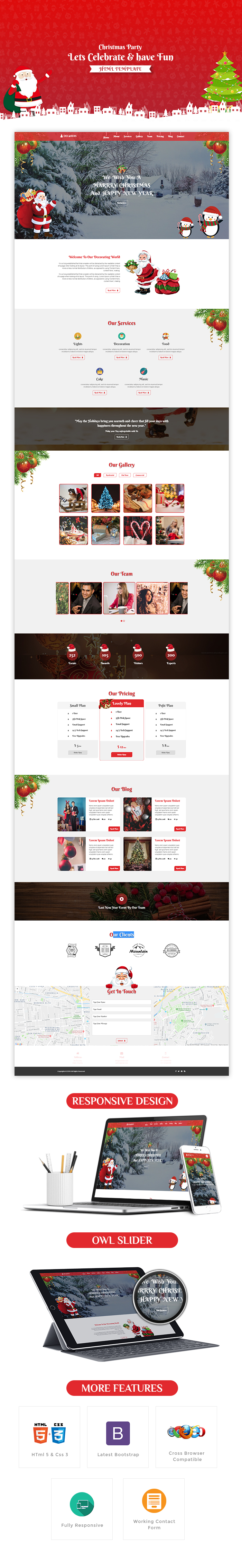 Christmas Decoration HTML Website Templates