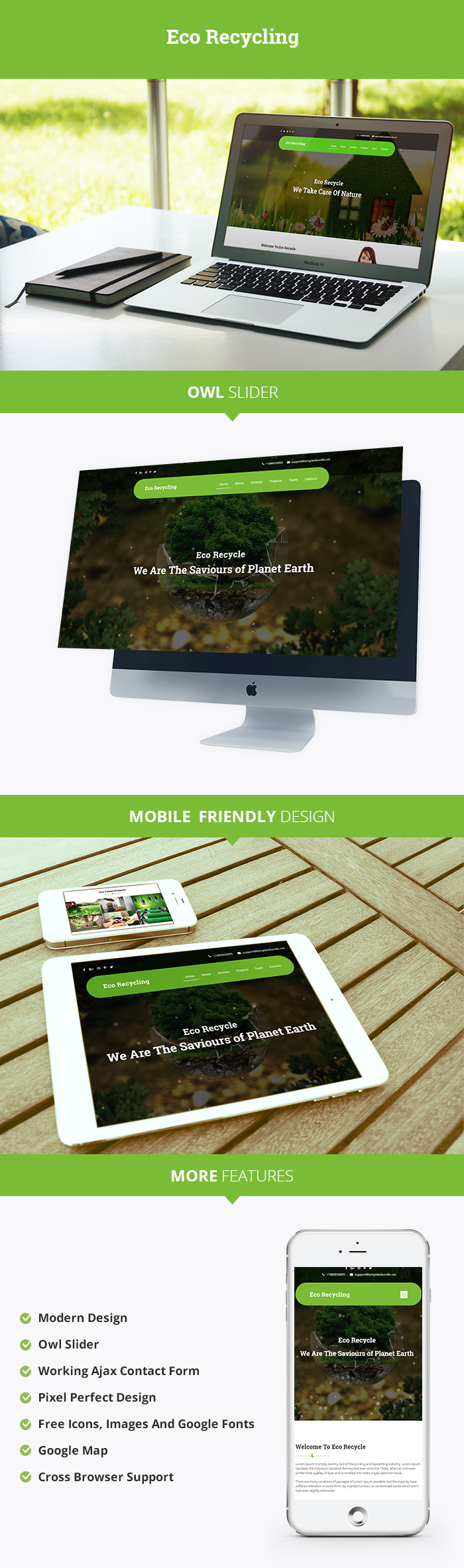 Eco Recycling HTML Website Templates