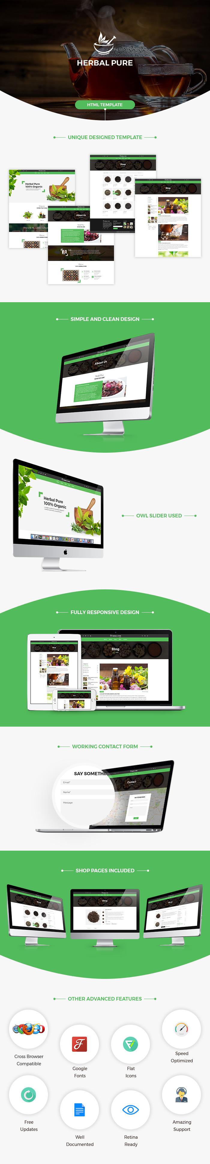 Herbal Pure Html Website Template Template Bundle Premium Html