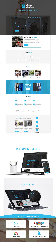 Laundry Service Html Website Templates