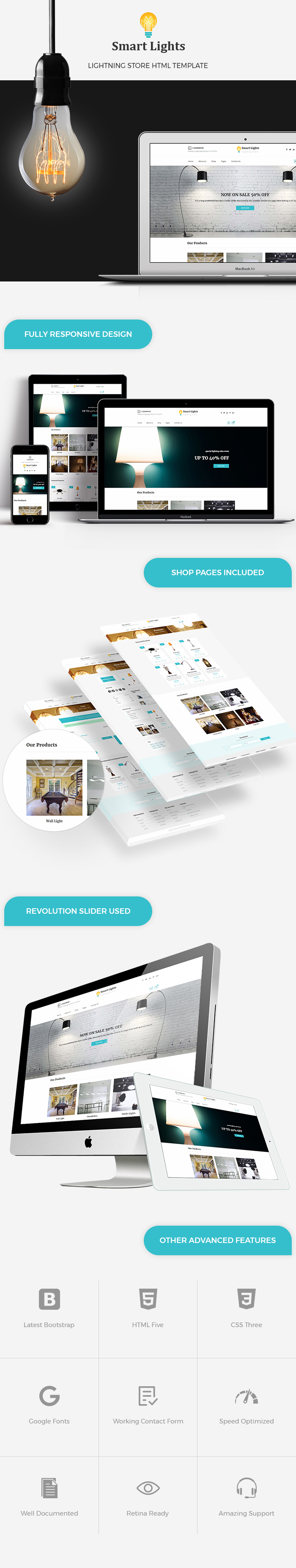 Lighting Store HTML Website Templates