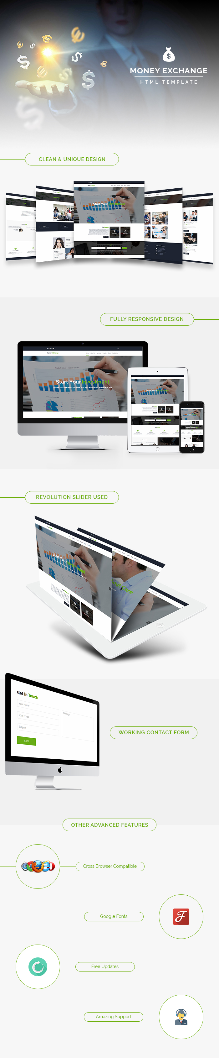 Money X-change HTML Website Templates