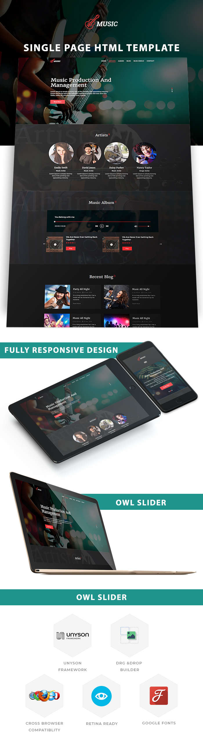 Music Production Agency HTML Website Templates