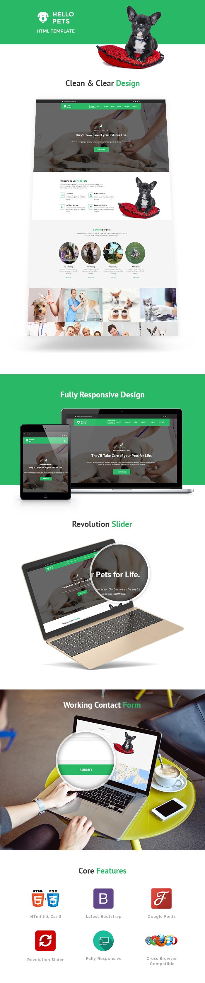 Pets Care HTML Website Templates