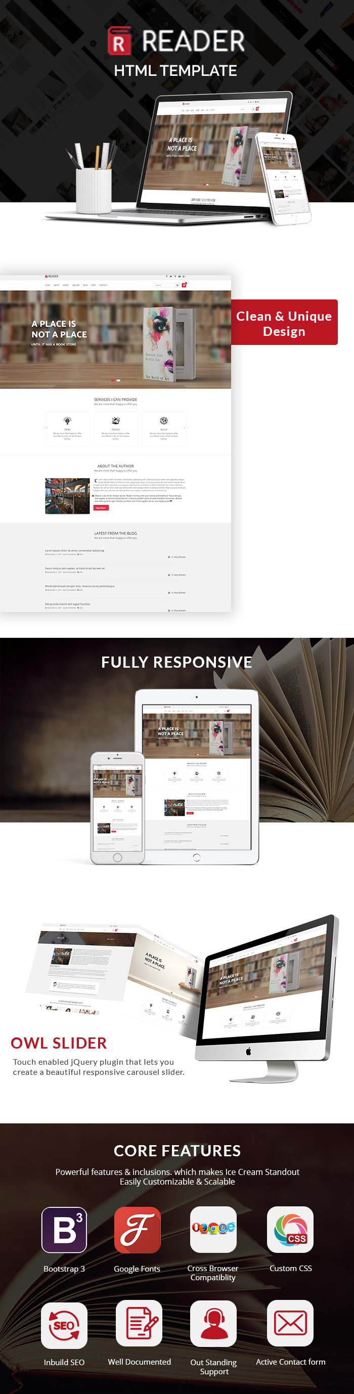 Reader Book Store HTML Website Templates