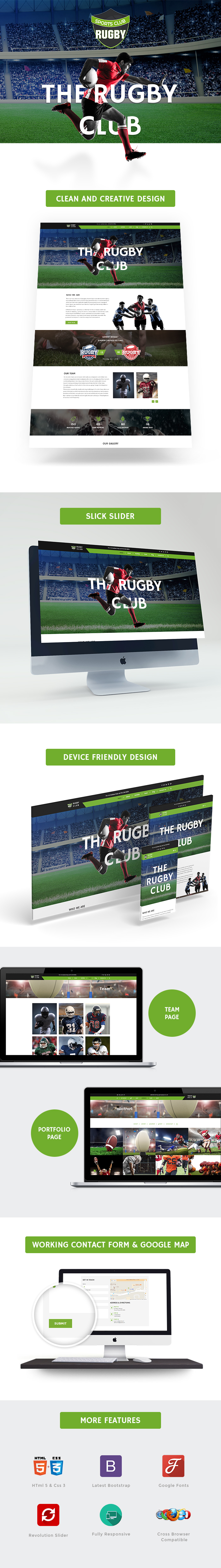 Rugby Club HTML Website Templates