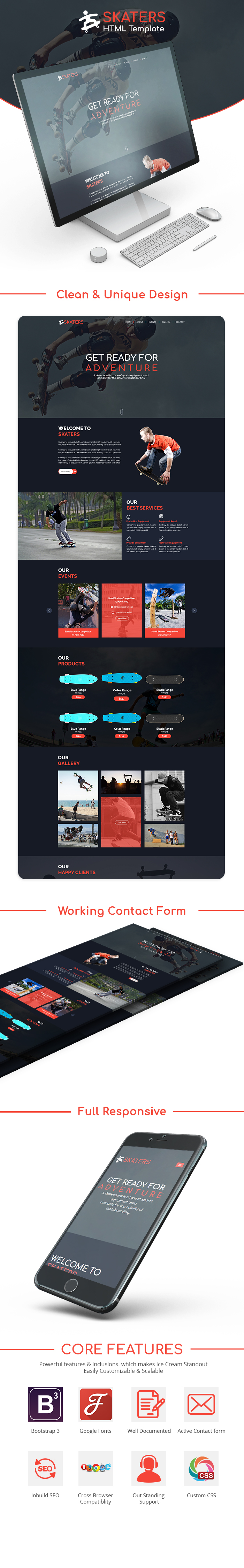 Skateboard HTML Website Templates